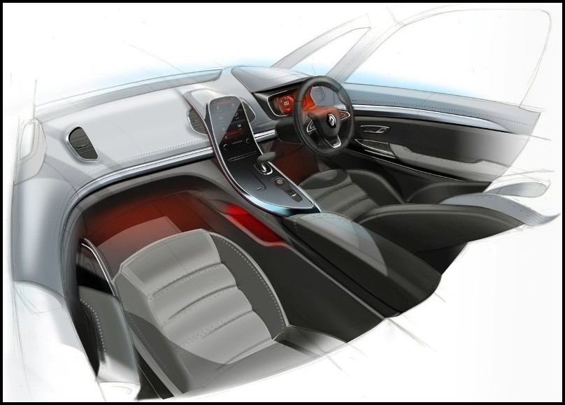 2020 Renault Espace Interior Concept Drawing