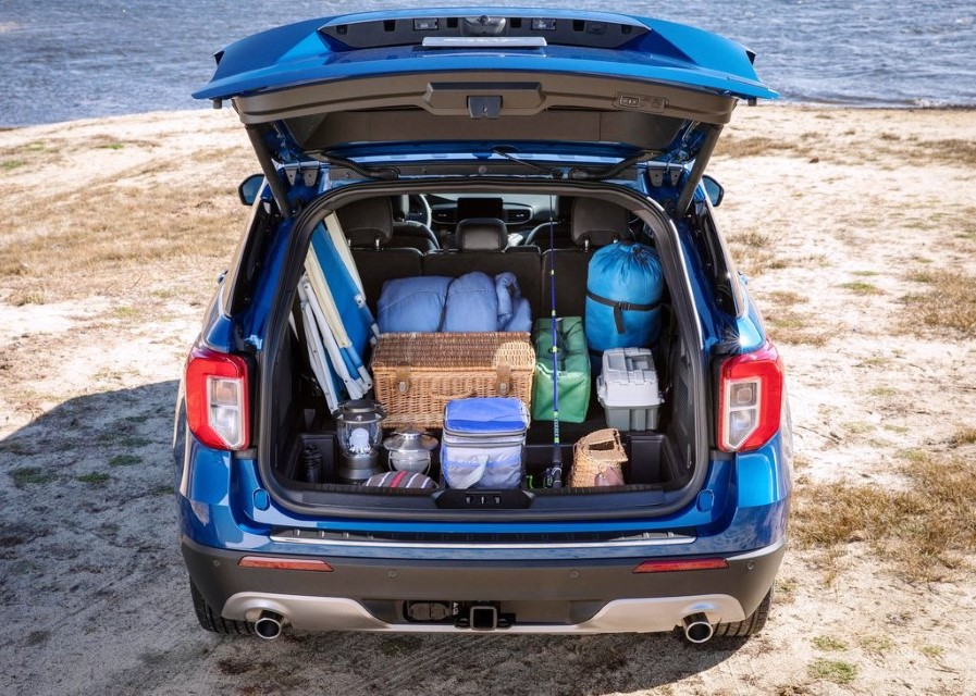 2020 Ford Explorer Trunk Capacity