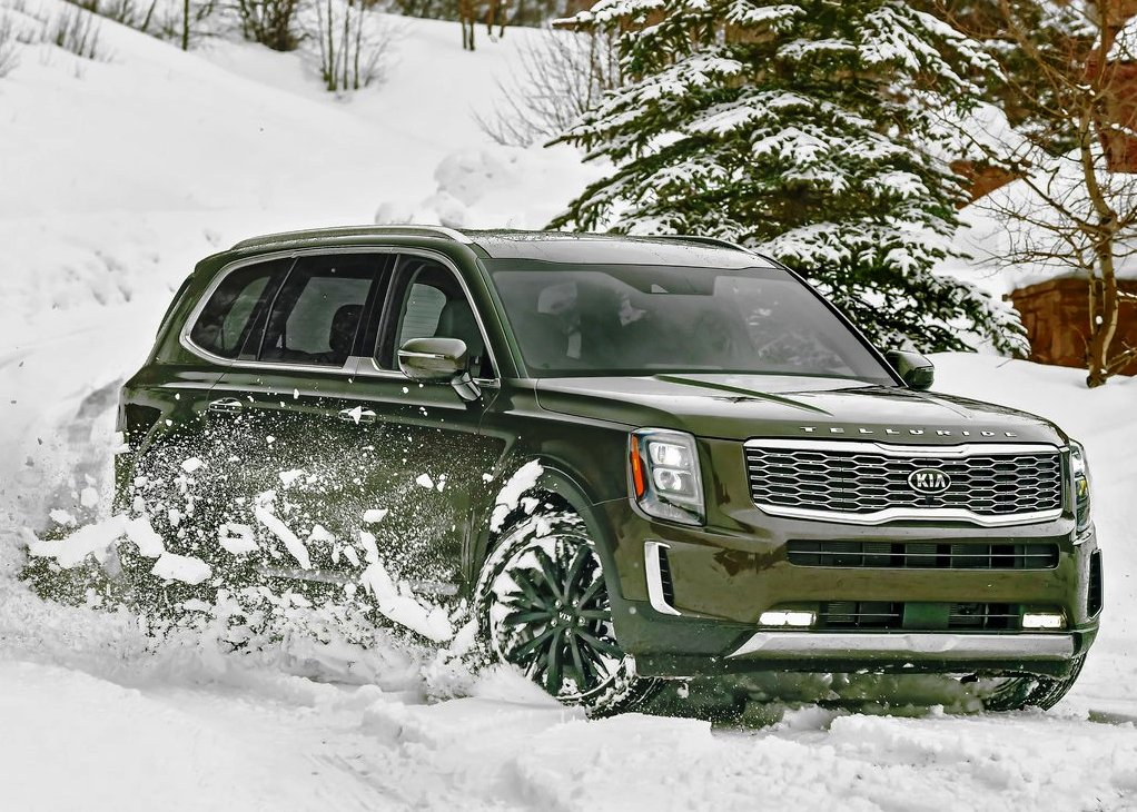 2021 Kia Telluride Snow Test Pictures