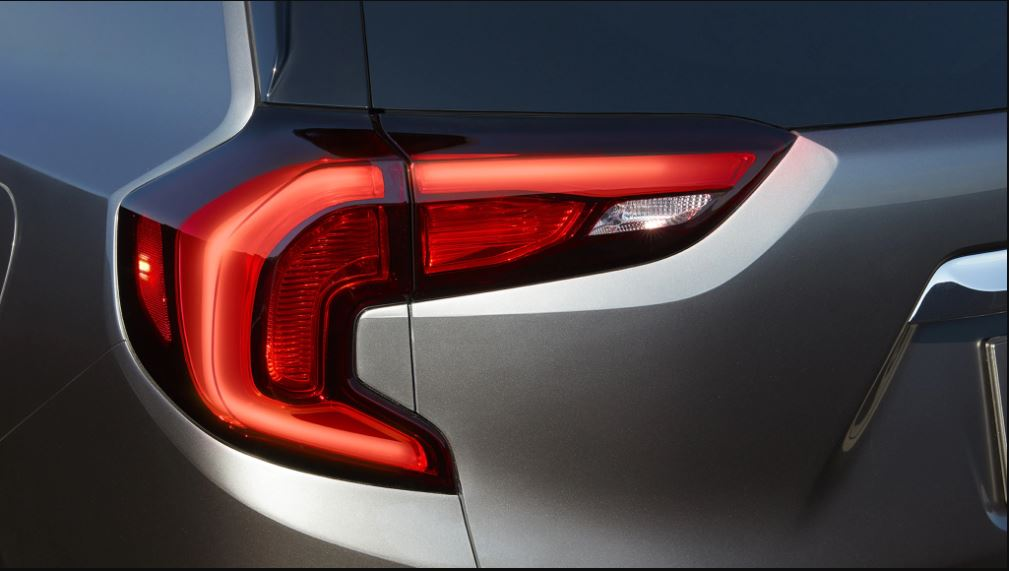 2021 GMC Terrain Update Rear Angle on Tail Light