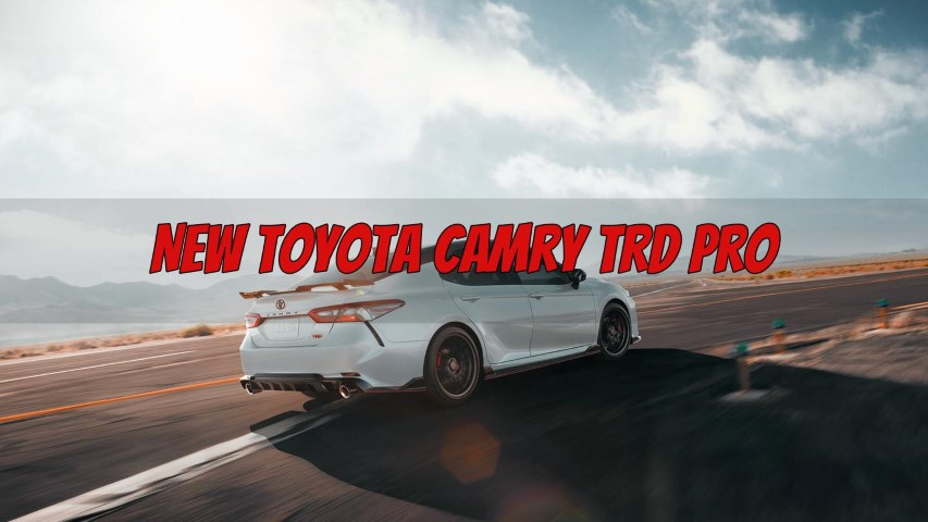 2022 Toyota Camry TRD Pro Versions